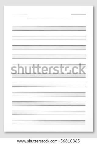 score paper music