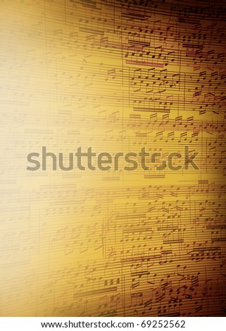 Music sheet background for poster - stock photo