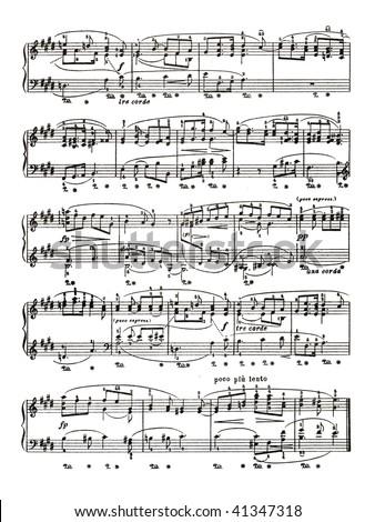 Music sheet page - art background - stock photo
