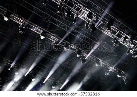 music stage lighting - stock photo