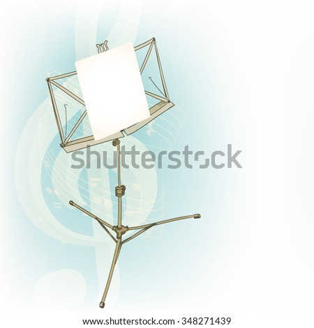 music stand in abstract composition. JPG version - stock photo