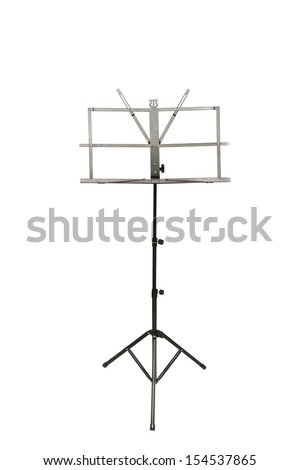 music stand isolated on white background  - stock photo