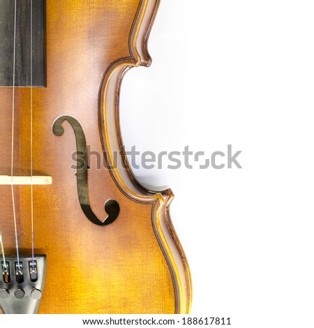 music string instrument violin isolated on white background