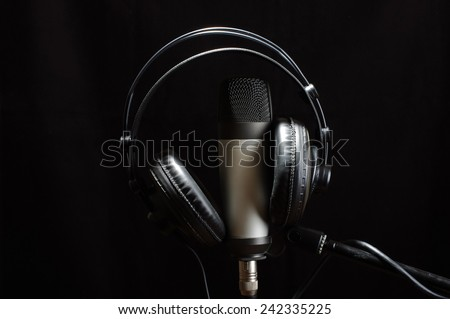 Music studio equipment - stock photo