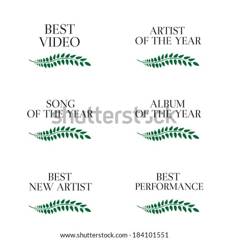 Music Video Awards Categories 3 - stock photo