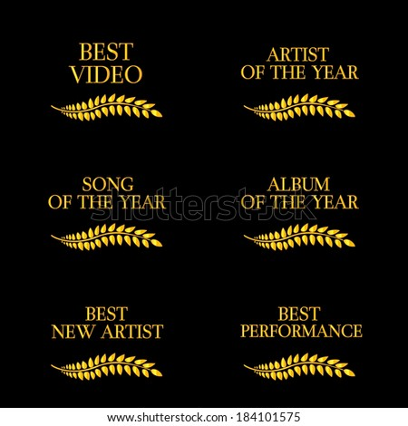 Music Video Awards Categories 4 - stock photo