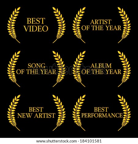 Music Video Awards Categories 2 - stock photo