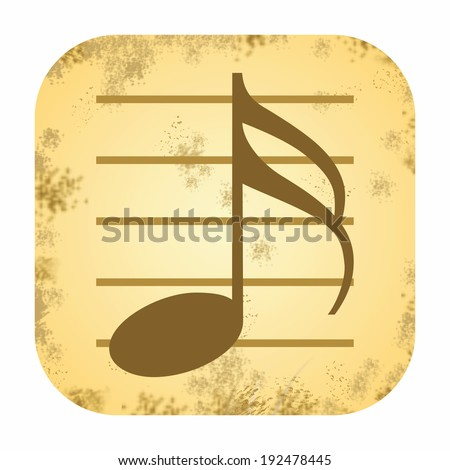 Music vintage icon - stock photo