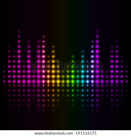 music volume abstract background - stock photo