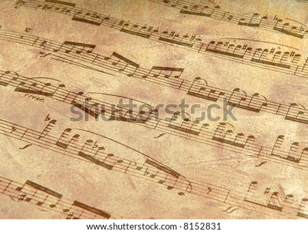 Music with Antiqued Finish