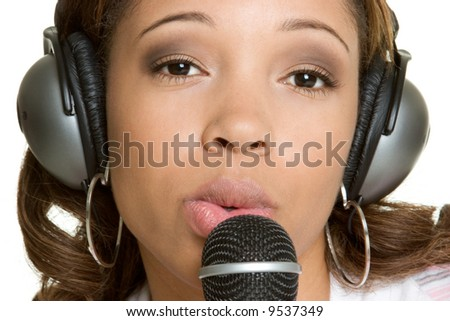 Music Woman - stock photo