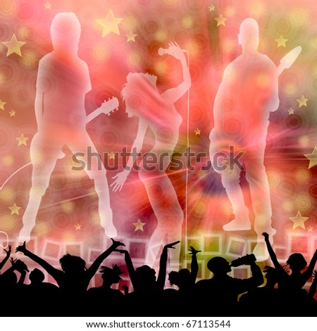 MUSICAL BACKGROUND - stock photo