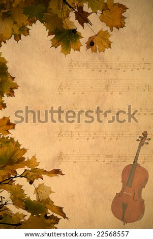musical background in retro style - stock photo