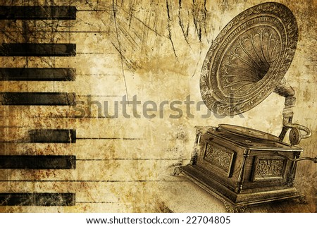 musical background with place for text - stock photo