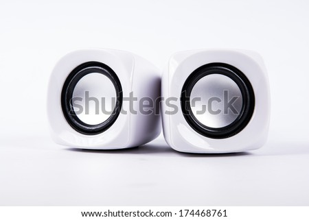 musical columns isolated on a white background - stock photo