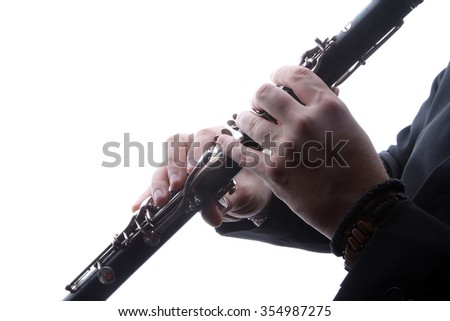 musical instruments - clarinet- valves and tubes - mouthpiece for playing