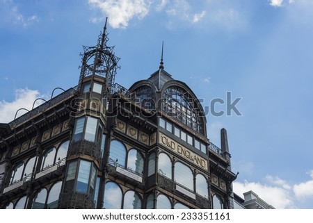 Musical Instruments Museum building facade in Brussels, Belgium - stock photo