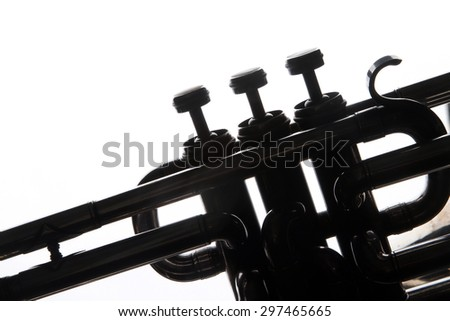 musical instruments trumpet valves and tubes mouthpiece for playing stock photo. Black Bedroom Furniture Sets. Home Design Ideas