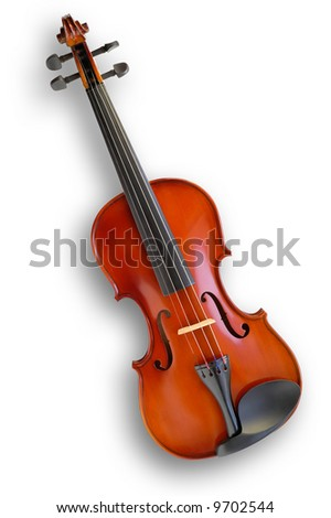 Musical instruments: violin - stock photo
