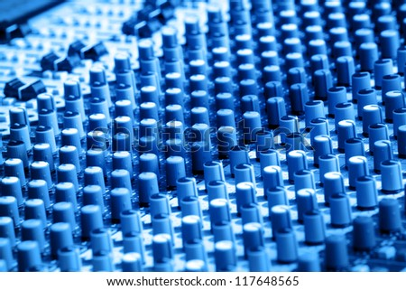 Musical mixer background - stock photo