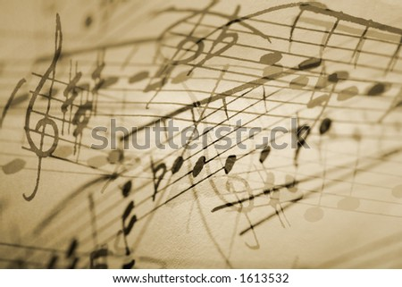 musical notation background. - stock photo