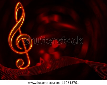 Musical notes abstract background for art design - stock photo