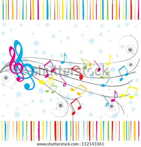 Musical Notes Birthday Card Stock Illustration 112141061 Shutterstock
