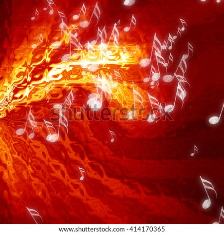 Musical notes on background - stock photo