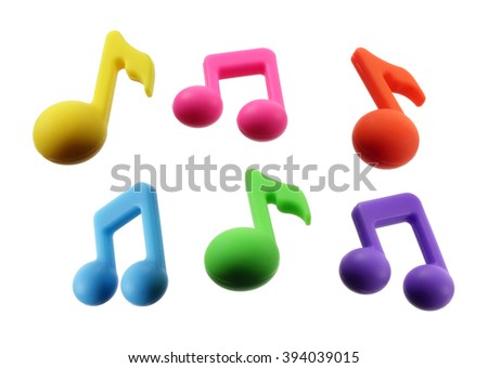 Musical Notes on White Background - stock photo