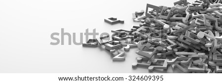 Musical notes on white, 3d background