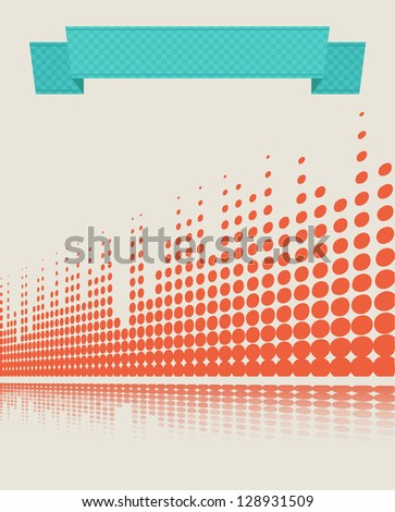 musical retro background with equalizer lines - stock photo