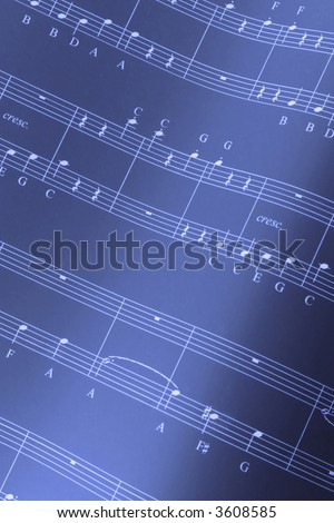Musical score - stock photo
