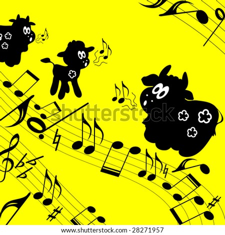 Musical theme background.