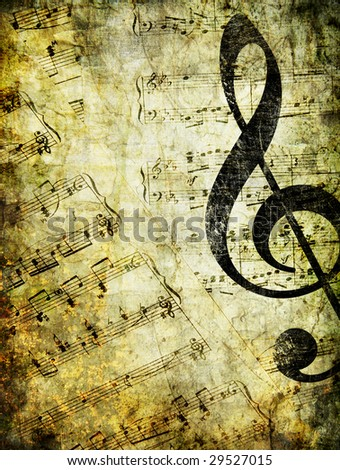 musical vintage background - stock photo