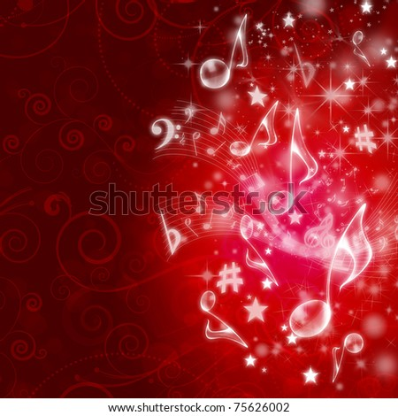 MUSICAL WALLPAPER - stock photo