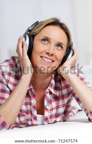 musical woman - stock photo