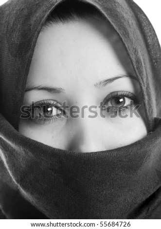 Muslim Woman in scarf - stock photo