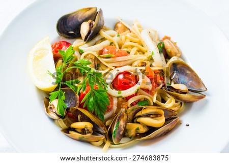 Mussel Salad - stock photo