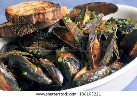 mussels alla Trapanese