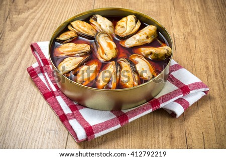 Mussels can - stock photo