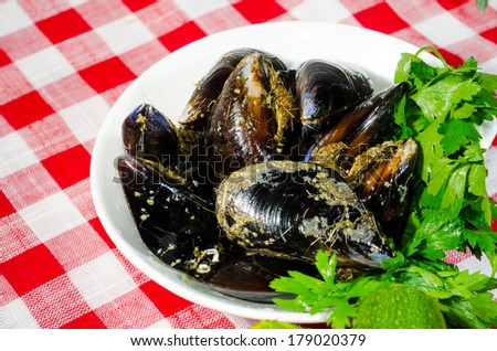 mussels from the rocks