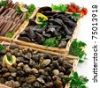 Mussels - setting - stock photo