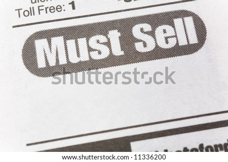 Must See, newspaper Sales ad,  Business concept - stock photo