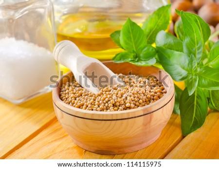 mustard seed - stock photo