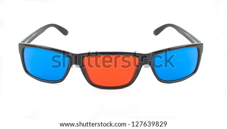 Mutated 3d glass - stock photo