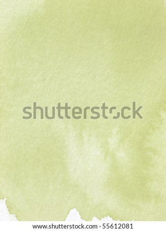 muted green textured watercolor paper - stock photo