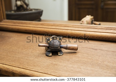 Muyu frog on the table - stock photo