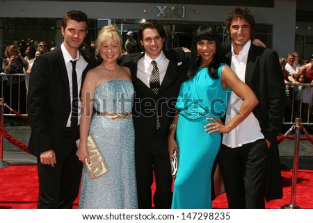 MVP Cast (Lucas Bryant, Kristin Booth, Dillon Casey, Amanda Brugel, and Peter Miller)  arriving  at the Daytime Emmys 2008 at the Kodak Theater in Hollywood, CA on June 20, 2008