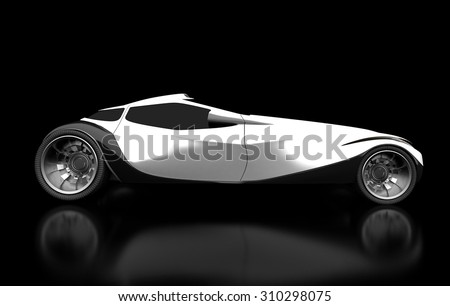 My car's design (black background). Perfect for presentations or pages automotive subjects without copyright infringement of the famous brands.