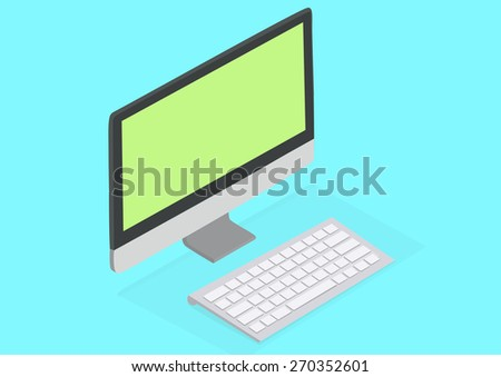 My Computer is better than your computer Desktop computer illustration - stock photo